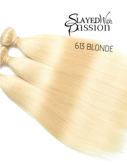 613 Raw Indian Extensions Blonde # 613 Straight
