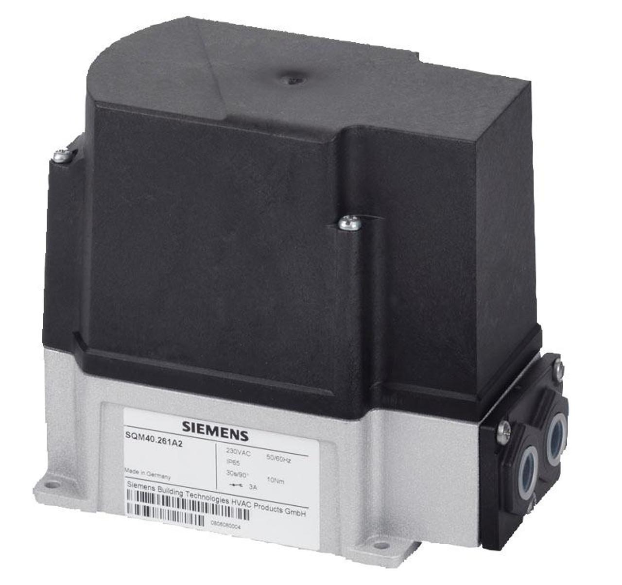 Siemens SQM40.261R11, Actuator, 10Nm, 90°/30s, cams, shaft 10mm+key, UL, 1 pot, AC120V