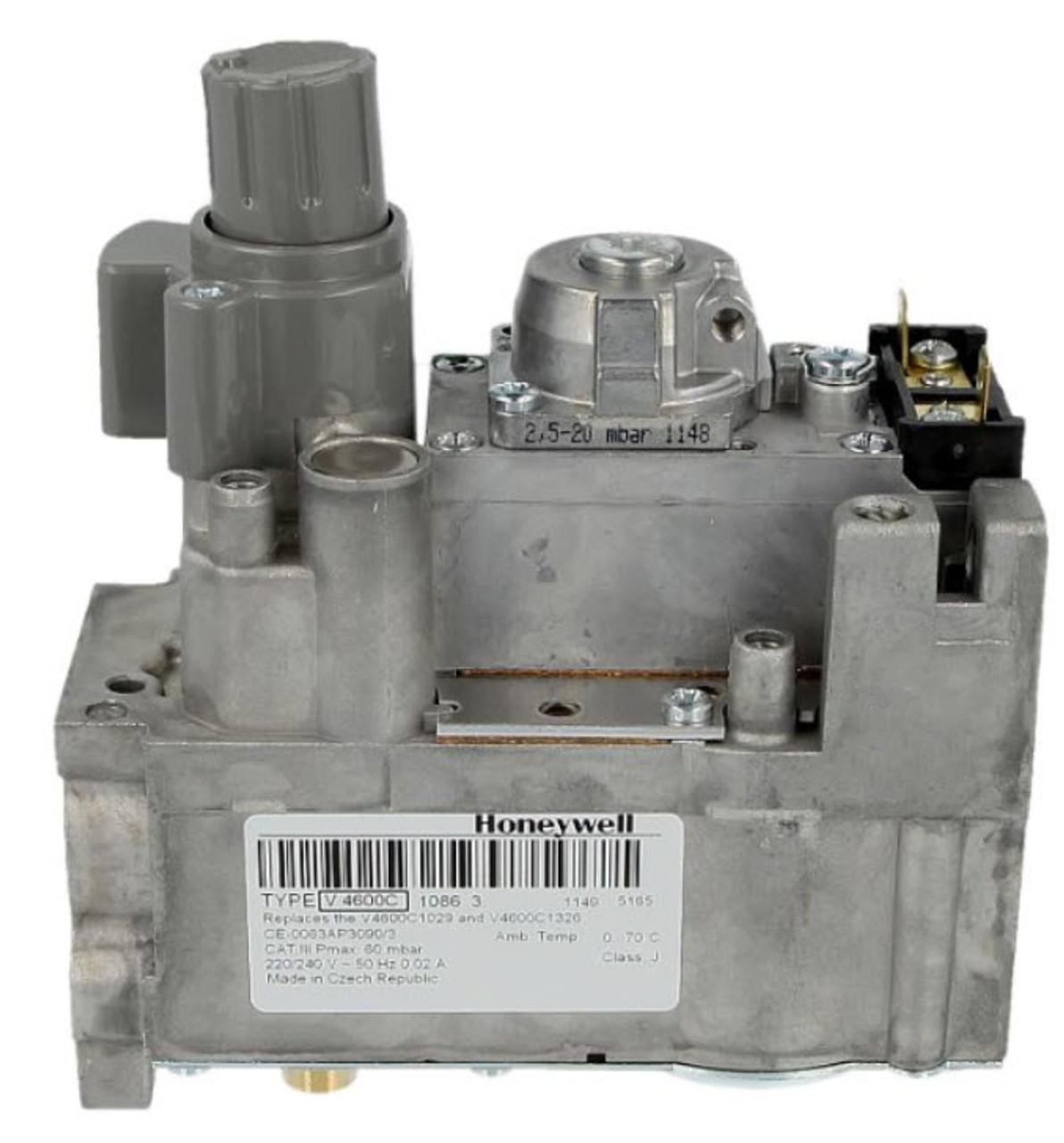 Honeywell V4600C1086U Gas control block