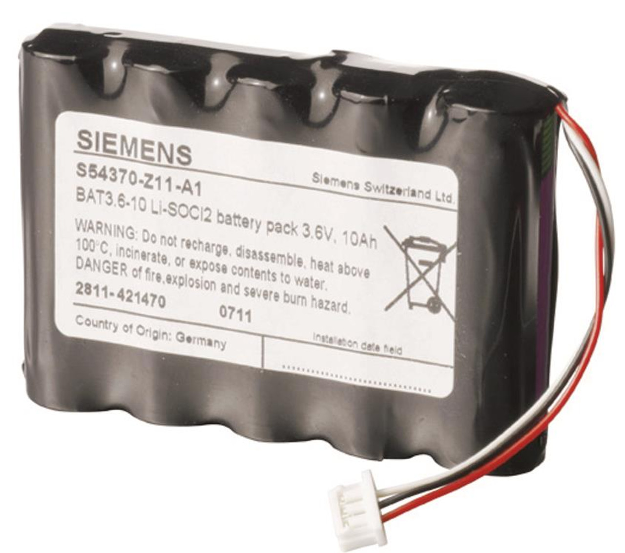 Siemens BAT3.6-10, S54370-Z11-A1, Li-SOCI2 battery 3.6 V, 10 Ah