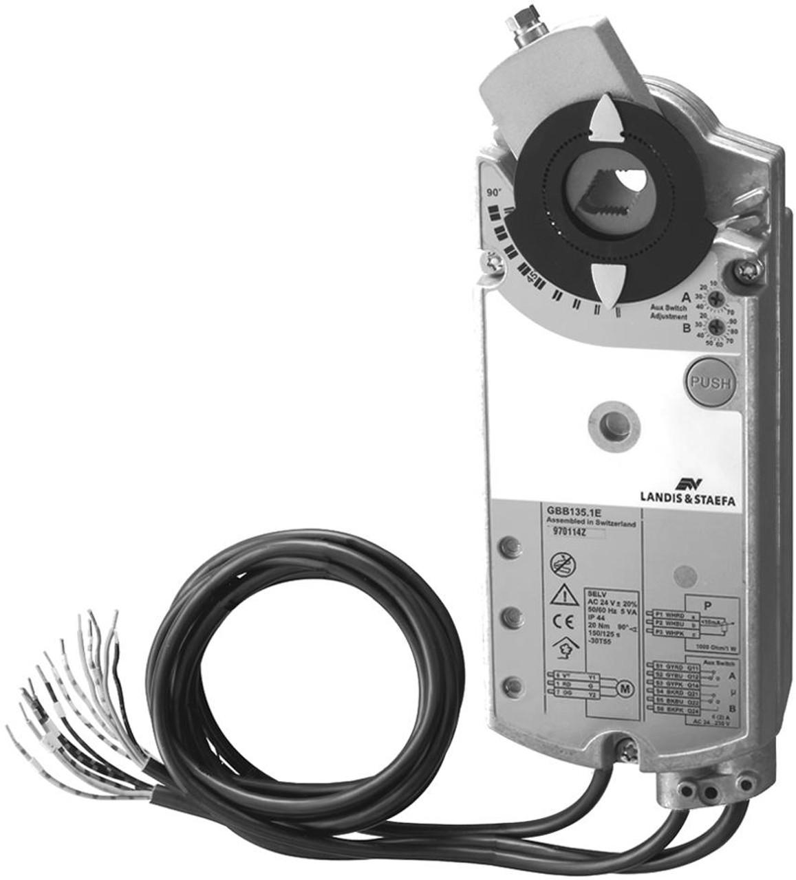 GBB331.1E rotary air damper actuator