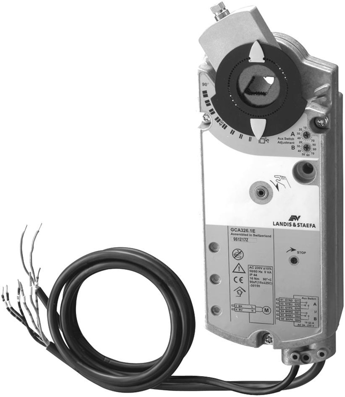 GCA135.1E rotary air damper actuator