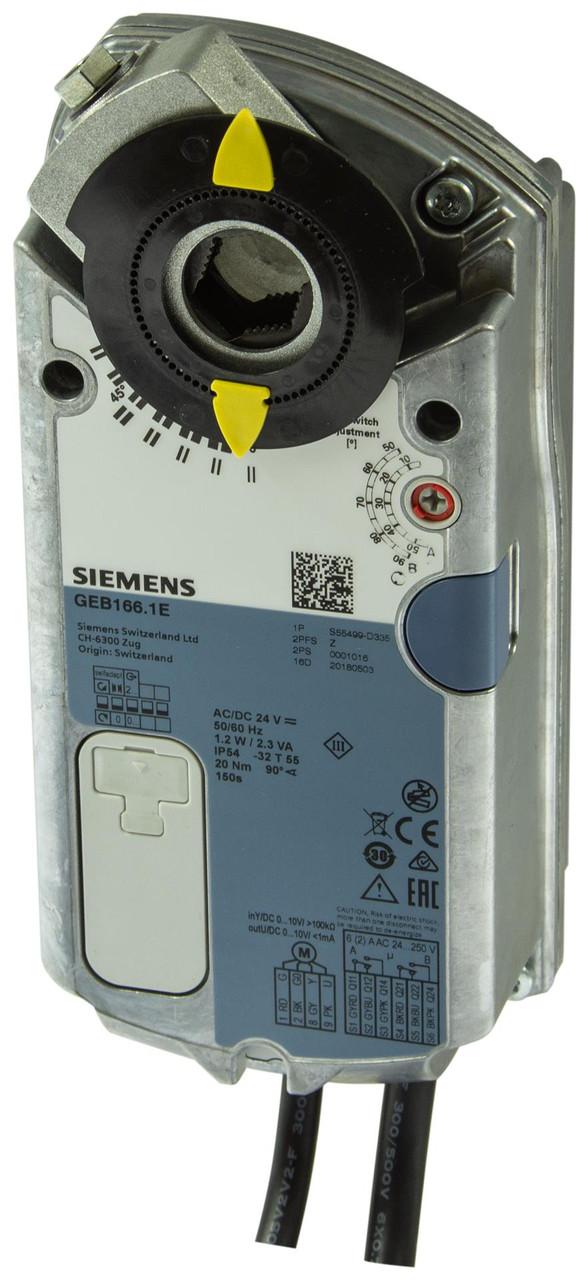 Siemens GEB166.1E Rotary air damper actuator
