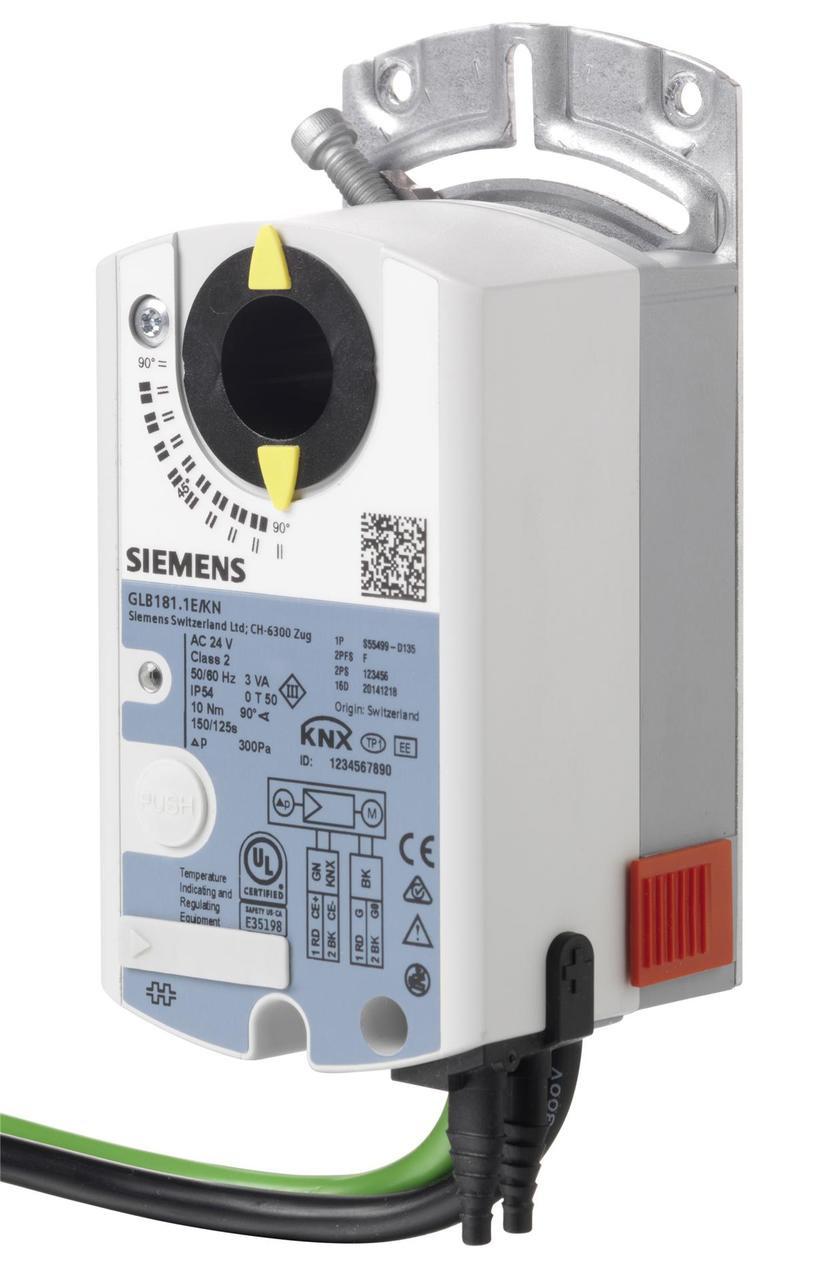 Siemens GLB181.1E/KN, S55499-D135 VAV compact controller KNX, AC 24 V, 10 Nm, 150 s, 300 Pa