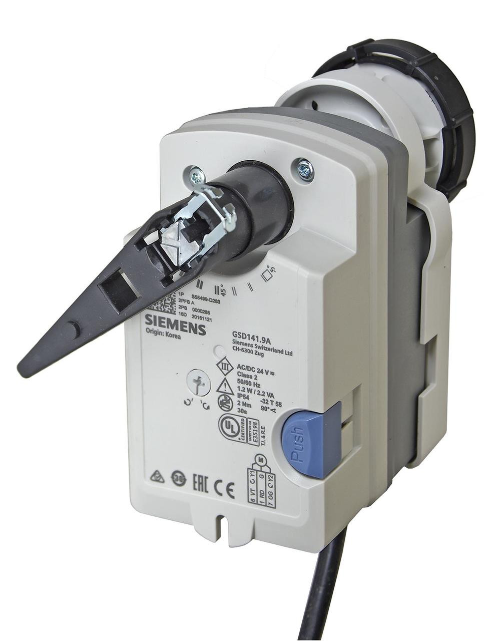 Siemens GSD141.9A Rotary actuators for ball valves