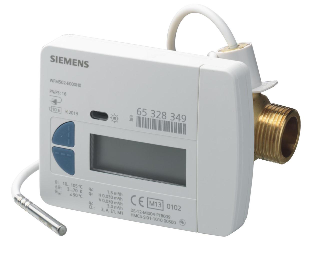 Siemens WFM502-E000H0 Impeller type heat meter, nominal flow rate 1.5 m3/h