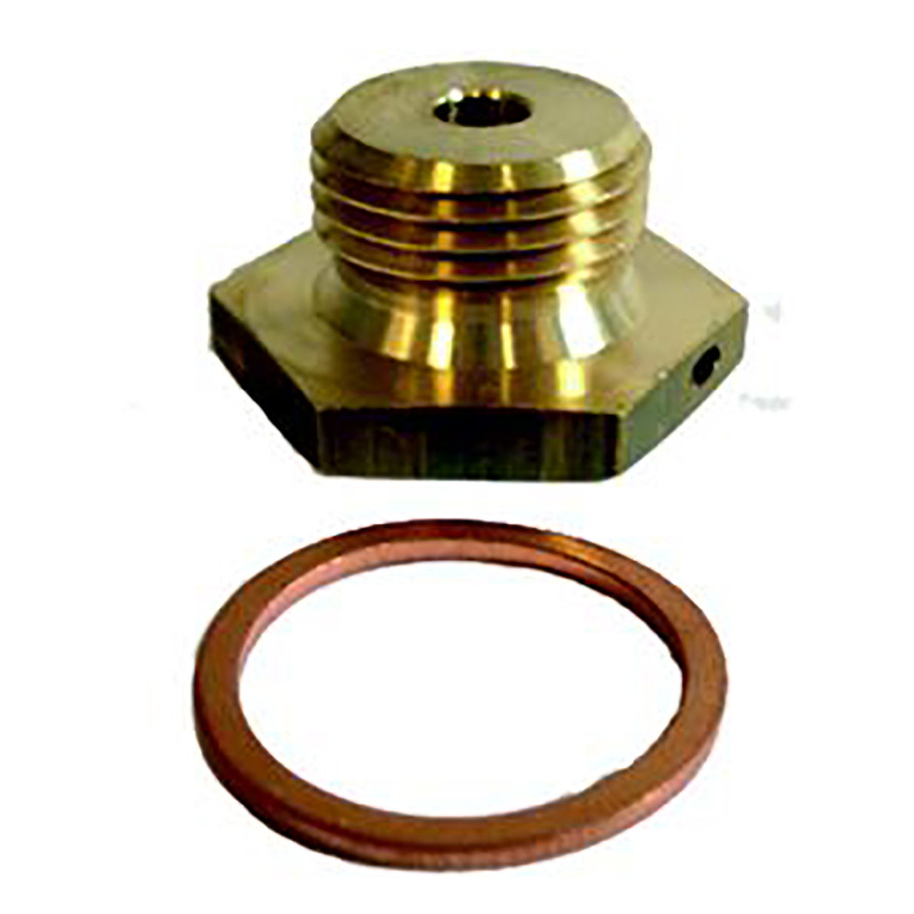 """Siemens WZT-A12, S55563-F116. Adapter G ½ B"""" with threaded hole to install sensor DS M10x1 mm, incl. gasket G ½"""""""