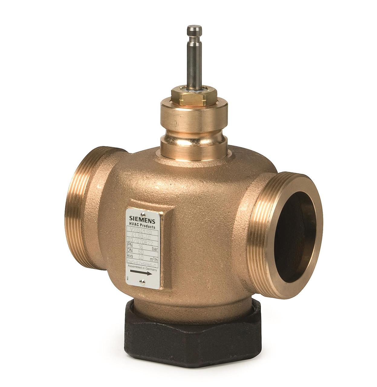 Siemens VVG41.14, 2-port seat valve, external thread, PN16, DN15, kvs 2.5