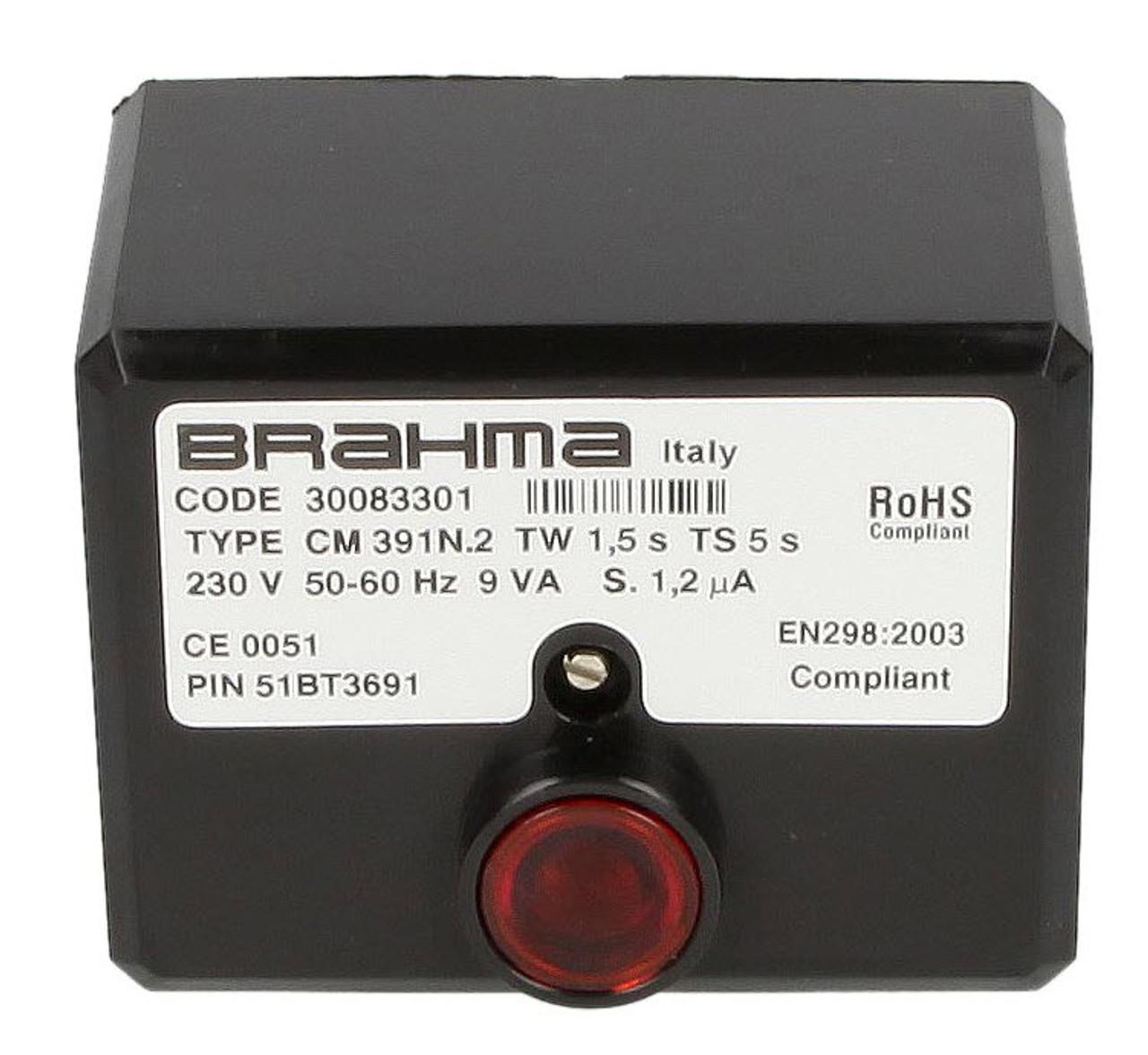 Gas burner control unit CM391.2 Brahma 30083301