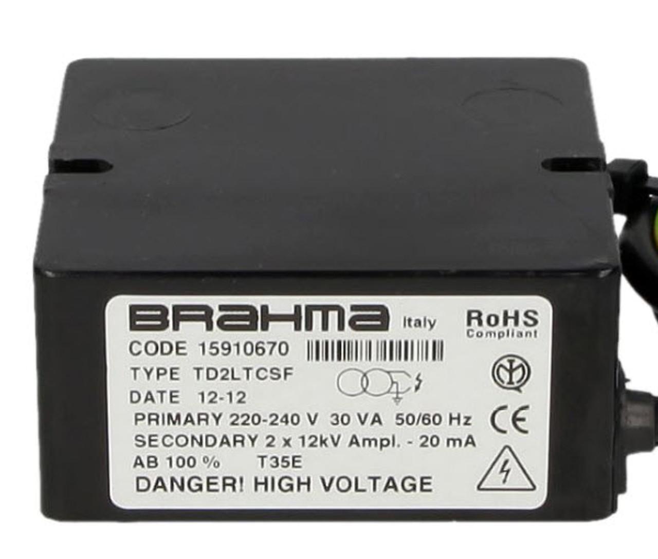 Ignition transformer Brahma TD2LTCSF 15910670