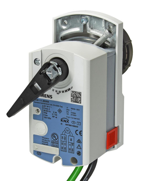 Siemens GLB111.9E/KN, S55499-D207 Electromotoric rotary actuator