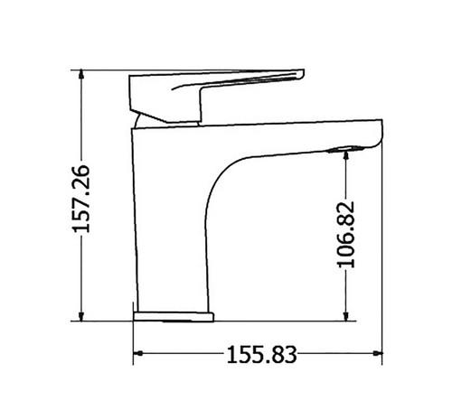 Washbasin Mixer tall body OPTIMA dimensions