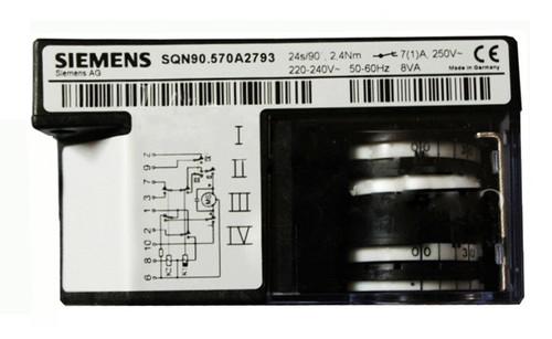 Siemens SQN91.570A2793. Damper Actuators SQN9 for air dampers of oil or gas burners
