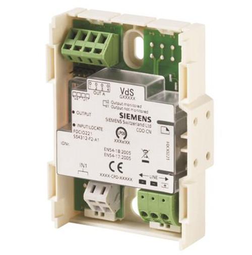 Siemens FDCIO221, S54312-F2-A1 Input/output module (1 input and 1 output)