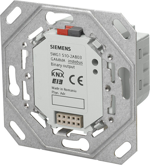 Siemens 5WG1510-2AB03 UP 510/03 Binary Output 2 x AC 230 V, 10 A, with mounting frame and BTI interface