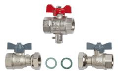 """Siemens HMXI-K001003, Installation set Rp 1""""- ball valve Rp 1"""" with coupling nut G ¾"""" and flat gaskets"""