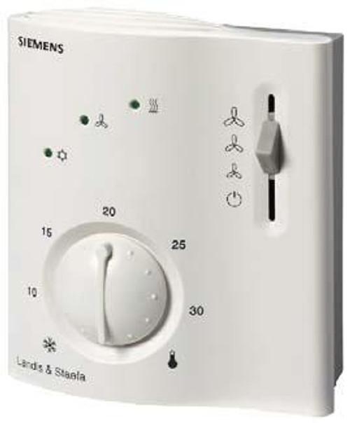 Siemens RCC10, Room thermostat for 2-pipe fan coils, AC 230 V, positioning signal 2 pt, return air sensor