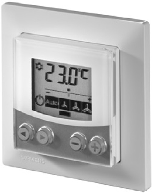 QAX84.1/PPS2 Flush-mounted room unit complete with PPS2 interface and design frame