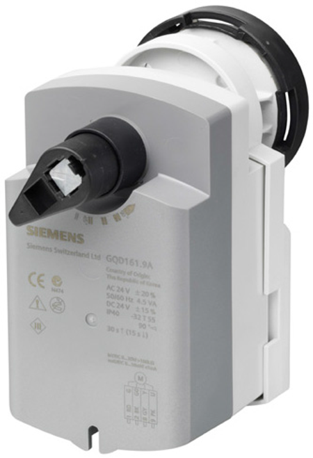 Siemens GQD321.9A rotary actuator for ball valves with spring-return