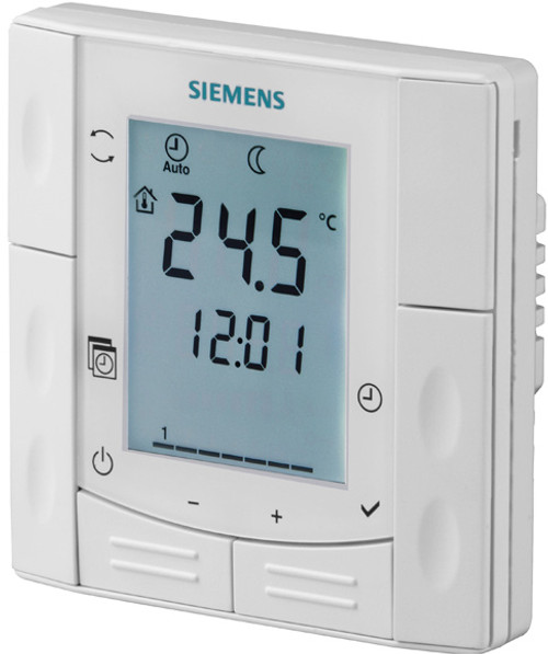 Siemens RDE410/EH, S55770-T333 Flush-mount room thermostats with auto timer