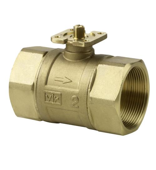 Siemens VAI61.50-63, 2-port ball valve, internal thread, PN40, DN50, kvs 63