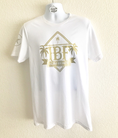 """Diamond Pyramids"" White & GOLD"