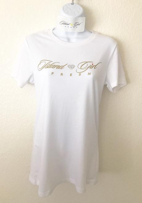 """Diamond Girl"" White & GOLD"