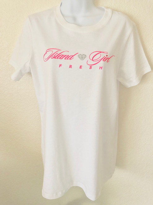 """Diamond Girl"" White & Pink"