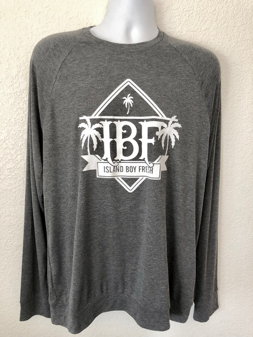 """Diamond Pyramids"" Dark Gray & White Sweater"