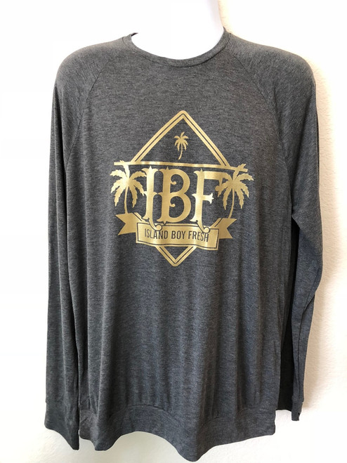 """""""Diamond Pyramids"""" Dark Gray & Gold Sweater"""