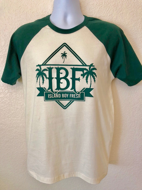 """Diamond Pyramids"" Cream & Green (BS)"