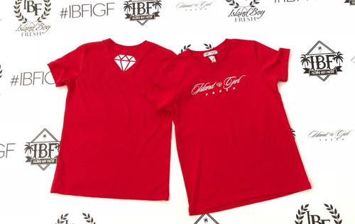 """Diamond Girl"" Red & White (Kids)"
