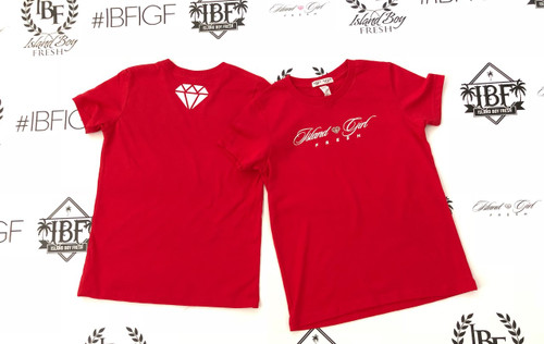 """Diamond Girl"" Red & White (Kids)"