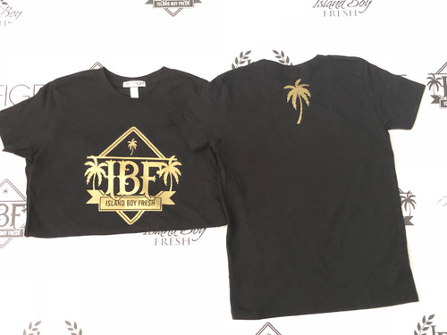 """Diamond Pyramids"" Black & GOLD (Kids)"
