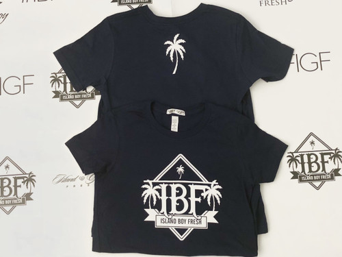 """Diamond Pyramids"" Navy & White"