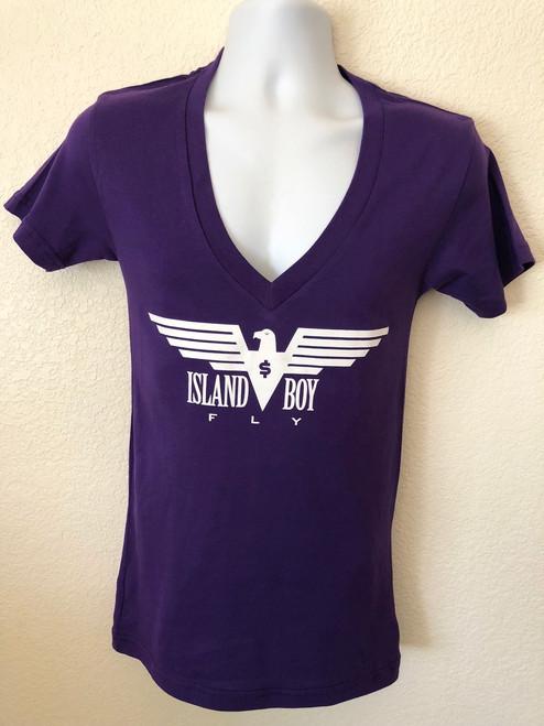 """Eagle Life"" Purple & White"