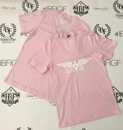 """Eagle Life"" Pink & White"