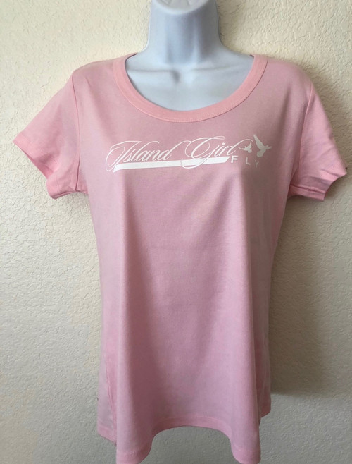 """FLy Love"" SCOOP Neck Pink & White"