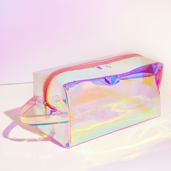 Get a free holographic bag with any purchase over $50.