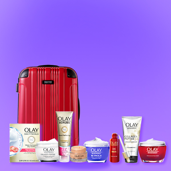 Sign up to club Olay and enter the sweepstakes for chance to win a Suitcase Of Skincare. Enter by June 30, no purchase necessary