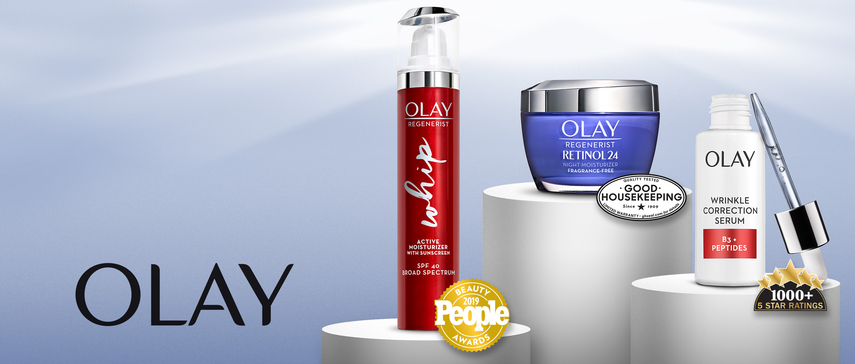 Olay products winners of industry awards. Awards trusted, proven Olay.