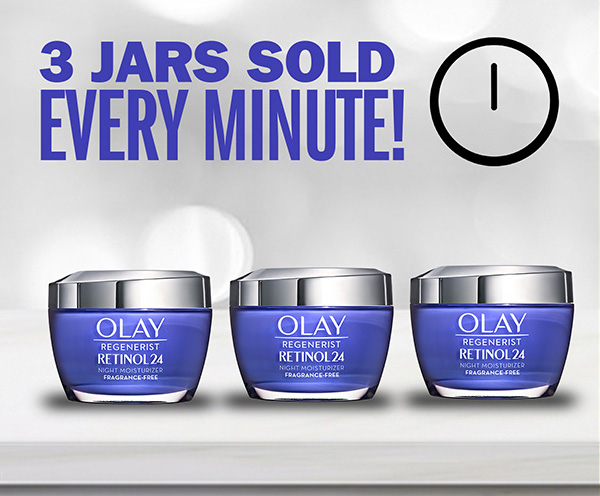 3 jars sold every minute! Brighter smoother skin overnight with Olay Regenerist Retinol24 MAX