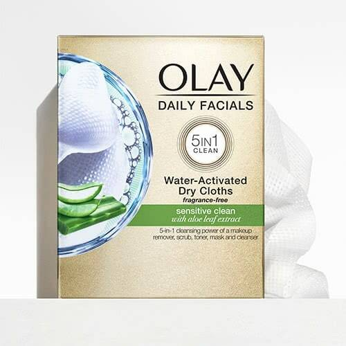 Daily Facial Cleansing Cloths with Aloe Extract