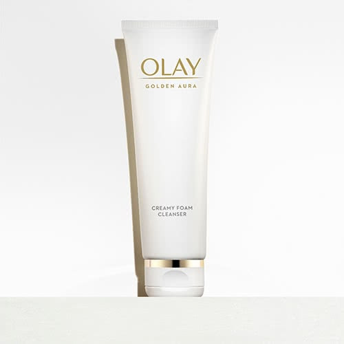 Olay Golden Aura Creamy Foam Facial Cleanser
