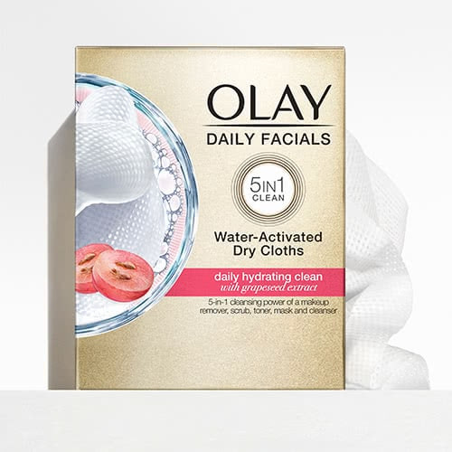 Daily Facial Cleansing Cloths with Grapeseed Extract