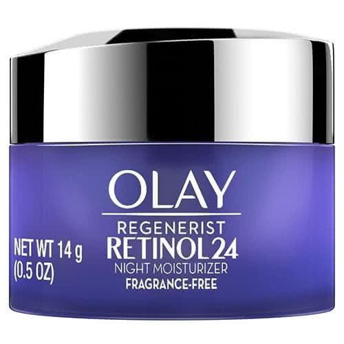 Regenerist Retinol 24 Night Face Moisturizer Fragrance Free, Trial Size