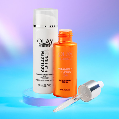 Hyperpigmentation Heroes Vitamin C and Collagen Peptide with SPF Power Couple