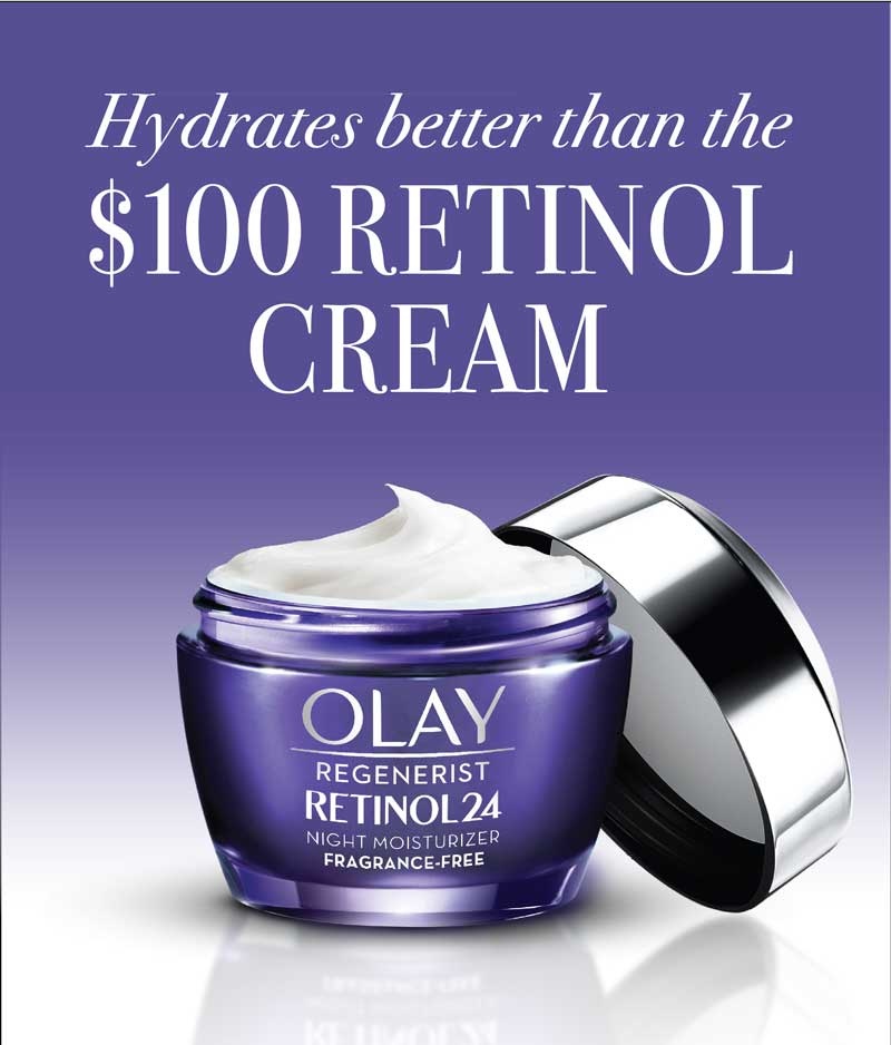 Olay Retinol24 hydrates better than $100 Retinol cream