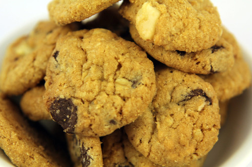 Belgian Chocolate and Macadamia Cookies