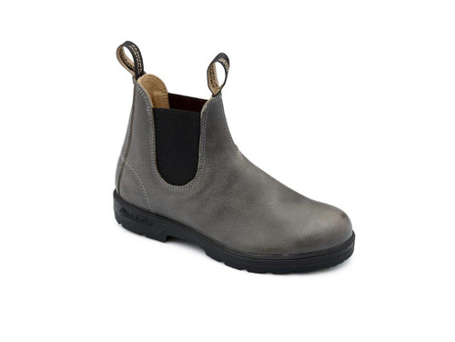 THE LEATHER LINED-STEEL GREY